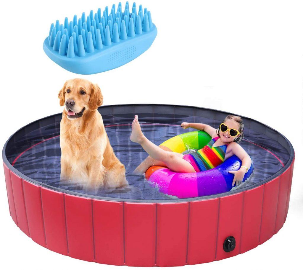 Dog paddling pool uk: Pedy Pool Large Foldable Dog Bathtub review