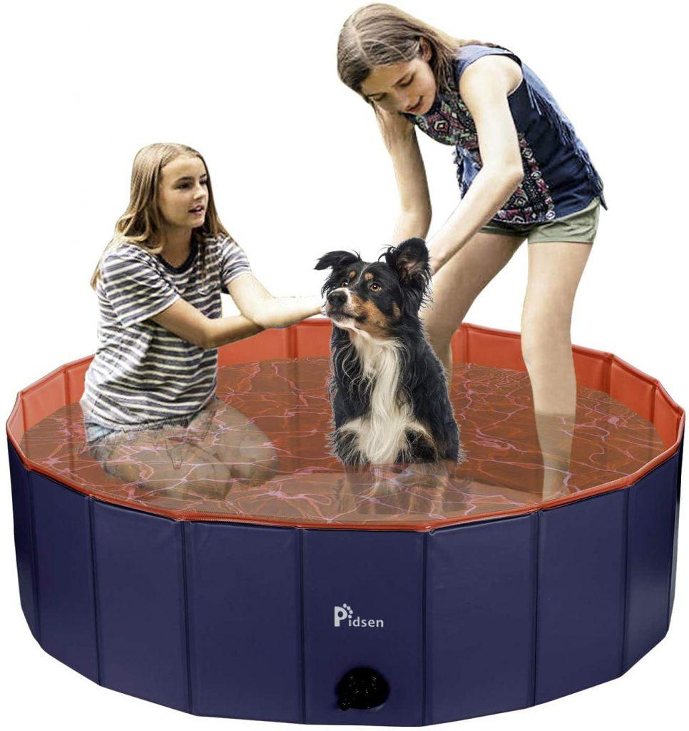 Dog paddling pool uk: Pidsen Swimming Pool Dog Bath Pets Paddling Pool