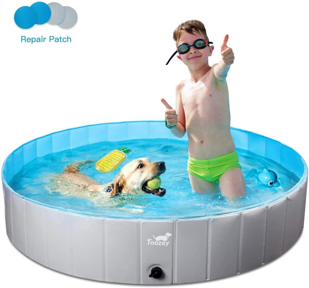 Dog paddling pool uk: Toozey Foldable Dog Pool for Children and Adults review