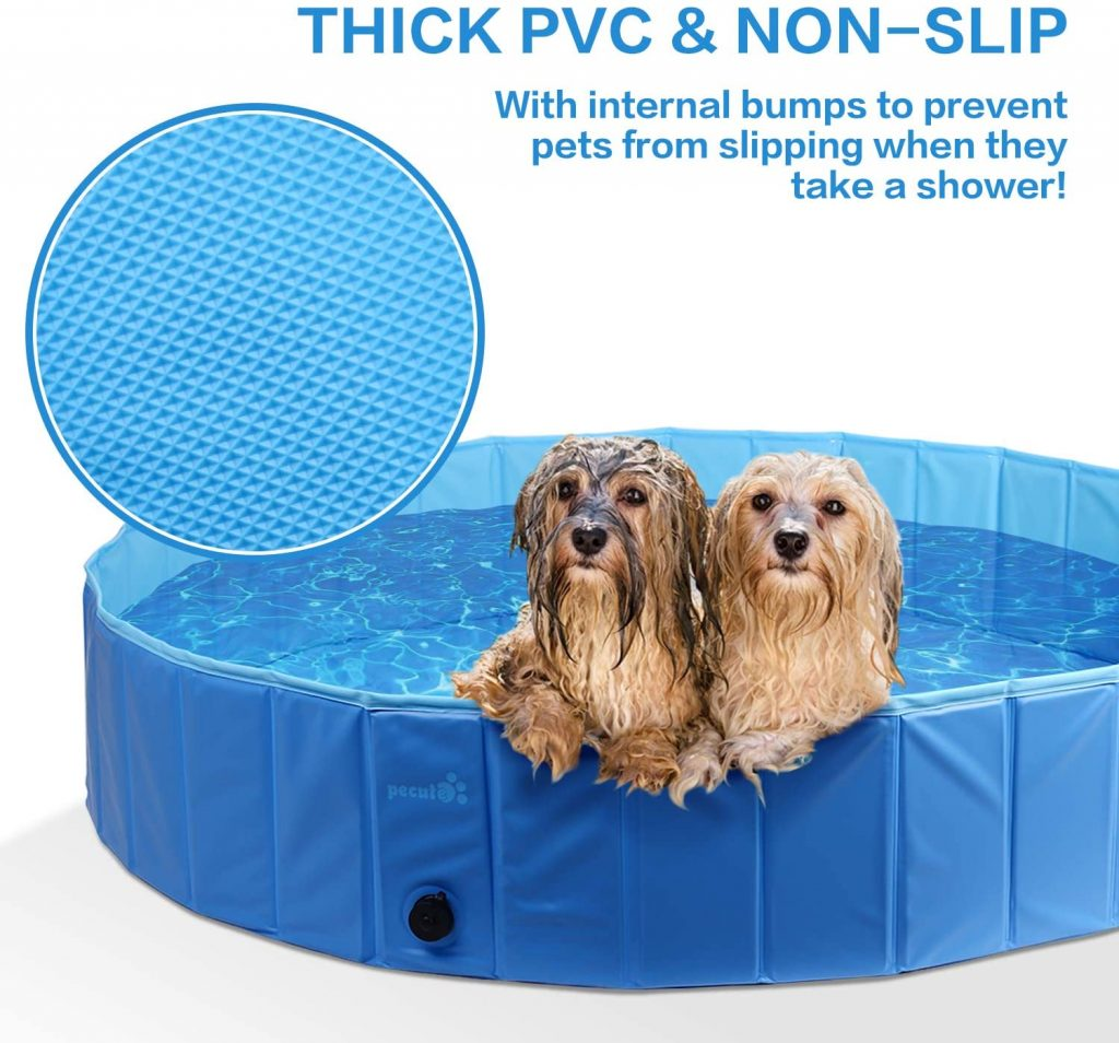Pecute Folding Dog Pool PVC Bathtub review Dog paddling pool uk