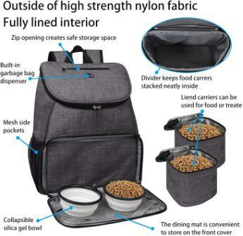 Best dog gear travel bag: BAGLHER Dog Travel Bag